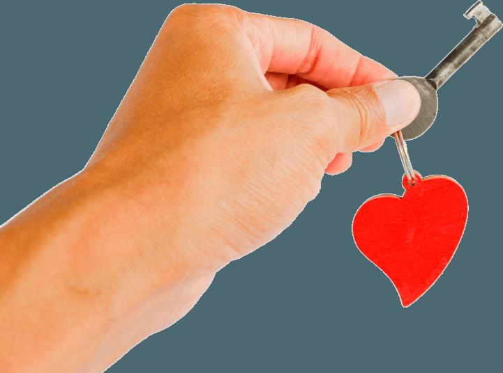 sleutel met hand